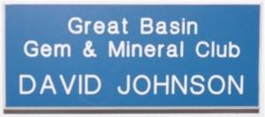 Great Basin Gem & Mineral Club Name Badge 2